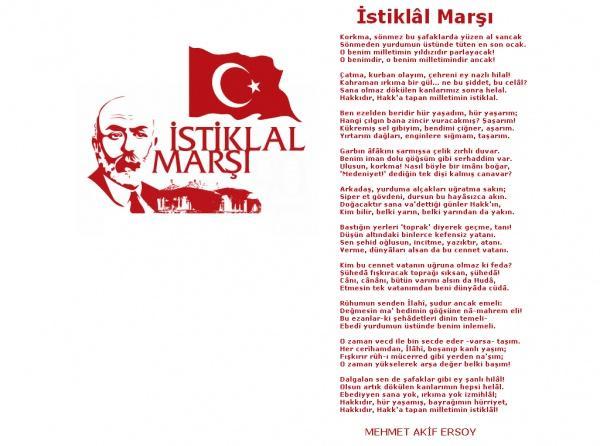 12 Mart Istiklal Marsi Nin Kabulu Ve Mehmet Akif Ersoy U Anma Gunu